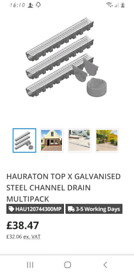 2 x CHANNEL DRAIN PIPES.