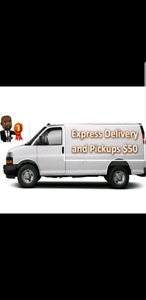 Express Cargo van pickups and deliveries