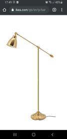 Ikea 'barometer' brass colour floor lamp