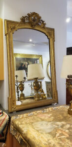 19th Century Antique French Gilt Mirror. Circa 1860-1890