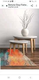 Vibrant flat weave floor rug 115x180cm brand new retails £99