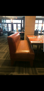 Leather benches