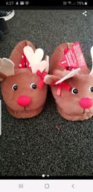 Ladies Christmas slippers Rudolf