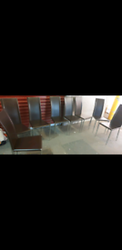 Beautiful sleek design dining chairs x 4