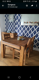 Harvey's Roseland dining table with 4 chairs