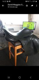 """17"""" black saddle"""