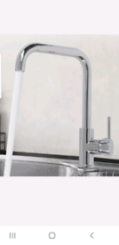 Kitchen sink brushed stainless steel mixer tap