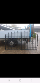 Set of driveway Steel Gates full length is 94 in or 47in x 50 height