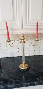 Crystal and Brass Candle holder