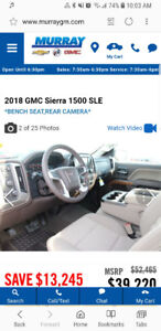 2017 red GMC Sierra 1500 - payment takeover + cash