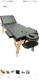 Portable massage table couch bed