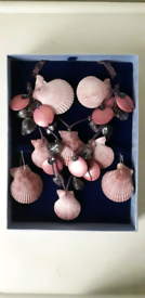 SHELL NECKLACE AND EARRINGS