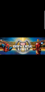 2 LAST MINUTE DEAL MARVEL UNIVERSE LIVE FRONT ROW CENTER STAGE