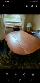 Rare Vintage Elliott of Newbury dining table, extends.