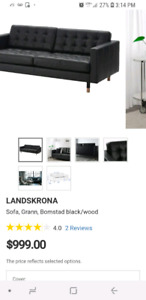 Leather sofa from ikea