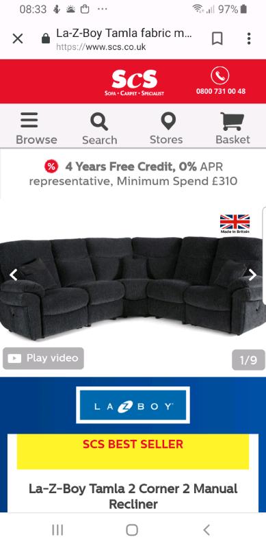 Amazing Lazy Boy Tamla Corner Sofa For Sale In Haddington East Lothian Gumtree Ocoug Best Dining Table And Chair Ideas Images Ocougorg