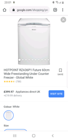 Hotpoint freezer under counter brand new packaged one left