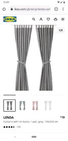 Pair of grey ikea lenda curtains