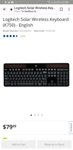 Logitech Solar Powered Wiress Keyboard