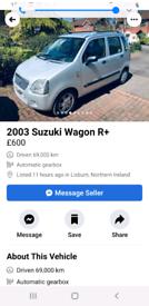 Susuki space wagon r automatic