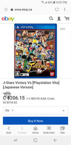 J stars victory vs for ps vita (extremely rare)
