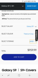 Samsung s9 brand new from rogers store