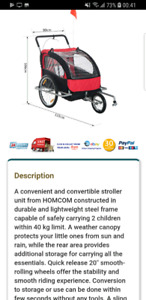 Double Child bike/jogging stroller