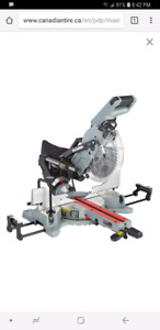 Sliding mitre saw and stand