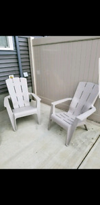 2 grey cottage chairs