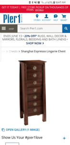 Shangai Lingerie Chests from Pier One