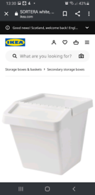 Ikea recycling Bins