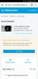 2 J cole tickets for Oct 4 2018