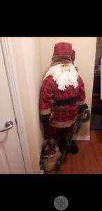"5'5"" Free standing Christmas Santa."