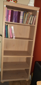 8 ft Wood Bookcase with five shelves  Sussex