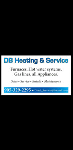 HVAC service. Furnaces, AC, Hot water, Gas lines, Appliances