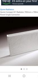 QUINN single panel radiator 700mm x 700mm
