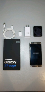 MINT CONDITION IN BOX! GOLD SAMSUNG GALAXY S7 EDGE!
