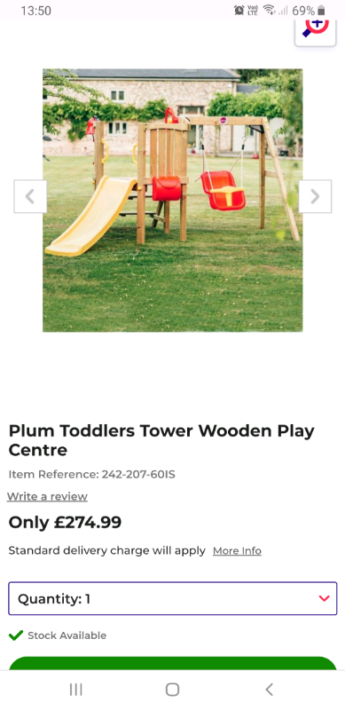 Plum Toddler Tower Play Centre And Cozy Coupe Car Bundle In Munlochy Highland Gumtree