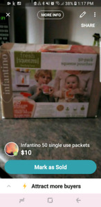 Infantino single use packets