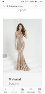 Elegant Rose Gold Prom Dress