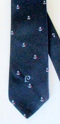 1960s – 70s Men's Ties | Skinny Ties, Slim Ties VINTAGE 1960'S SILK LOGO TIE BY PIERRE CARDIN - FRANCE $65.00 AT vintagedancer.com