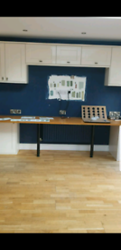 Howdens kitchen units and solid wooden worktop