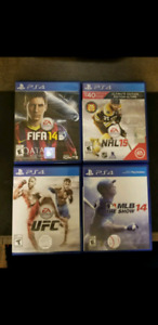 Assorted Older Sports Games for PS4 $5/Each or $10 for all 4