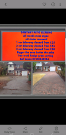 driveway patio cleaner cleaning jet wash drives slabs patios washing