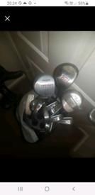 Golf clubs,tees,balls trolley