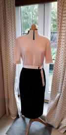 REDUCED PRICE Beautiful Ted Baker Pink and Navy Dress, UK Size 16