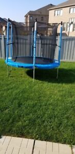 Trampoline with Enclosure, 8-ft for Sale