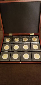 Complete Set of 12 Chinese Zodiac 24k Gold and Silver Coins