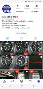 ☆☆☆FOR SALE VINTAGE SEIKO DIVER'S AND CHRONOS☆☆☆