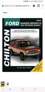 Ford: Ranger/Bronco II 1983-90 Repair Manual shipping available
